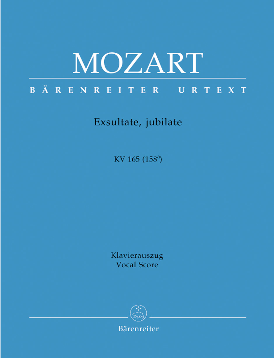 Exultate Jubilate KV 165(158a)(vocal score)