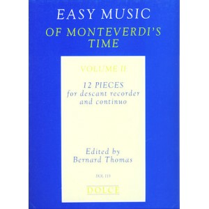 Easy Music of Monteverdi's Time 2 (fds,bc)