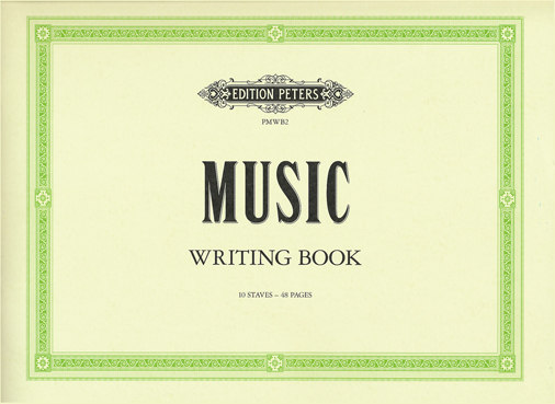 Nuottivihko A4 Peters Music Writing Book  (vaaka)