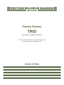 Trio (Revised Edition)(pf,ob,fg)(score,parts)