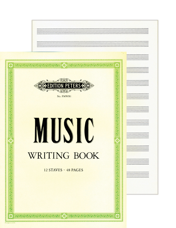 Nuottivihko A4 Peters Music Writing Book